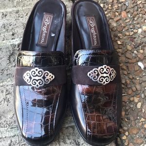 Brighton ❤️ Avery Brown leather and croc mules 6.5